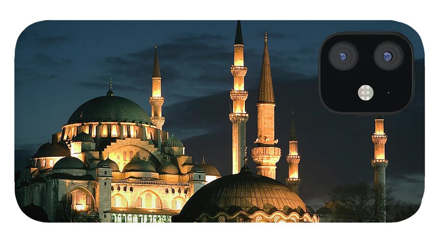Istanbul iPhone 12 Case featuring the photograph Suleymaniye Mosque Istanbul by Lebazele
