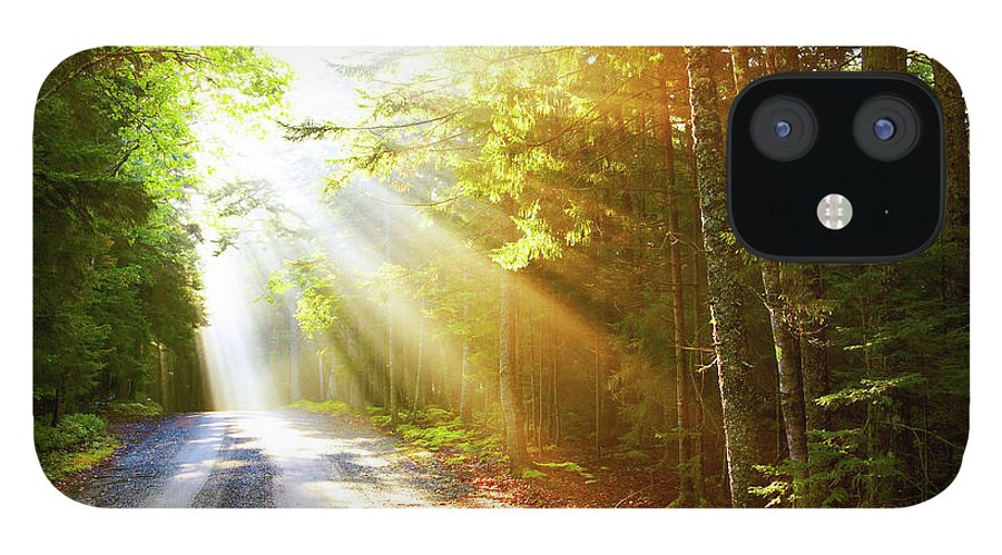 Outdoors IPhone 12 Case featuring the photograph Sunflare On Road by Thomas Northcut