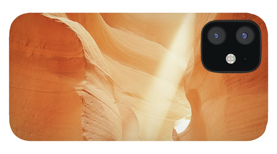 Antelope Canyon IPhone 12 Case featuring the photograph Sunlight In Antelope Canyon, Arizona by Robert Glusic