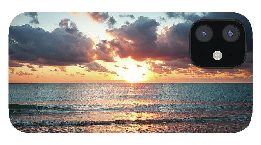 Scenics IPhone 12 Case featuring the photograph Sunrise In Miami by Tovfla