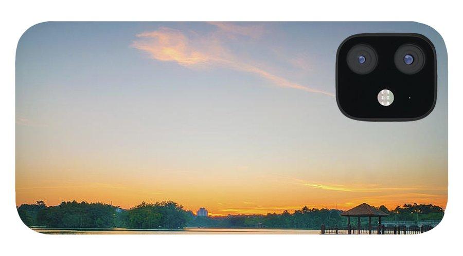 Tranquility IPhone 12 Case featuring the photograph Sunset At Kayak Putrajaya Lake by Muhammad Hafiz Bin Muhamad
