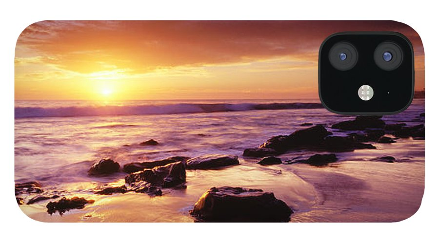 Scenics IPhone 12 Case featuring the photograph Sunset At Laguna Beach by Jason v