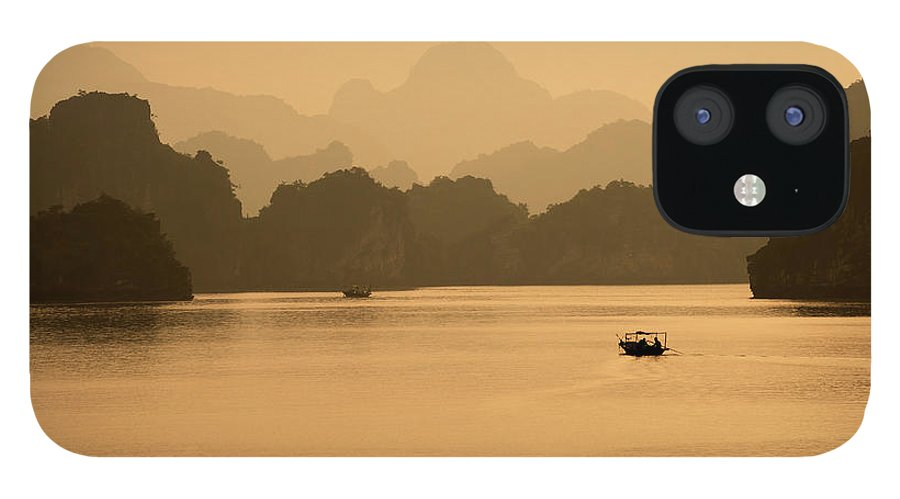 Halong Bay IPhone 12 Case featuring the photograph Sunset, Halong Bay, Vietnam by Yellow Dog Productions