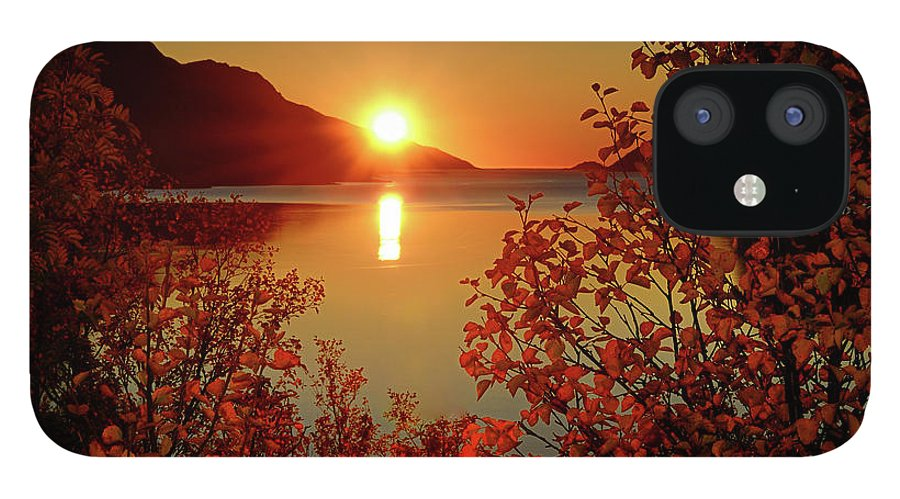 Tranquility IPhone 12 Case featuring the photograph Sunset In Ersfjordbotn by John Hemmingsen