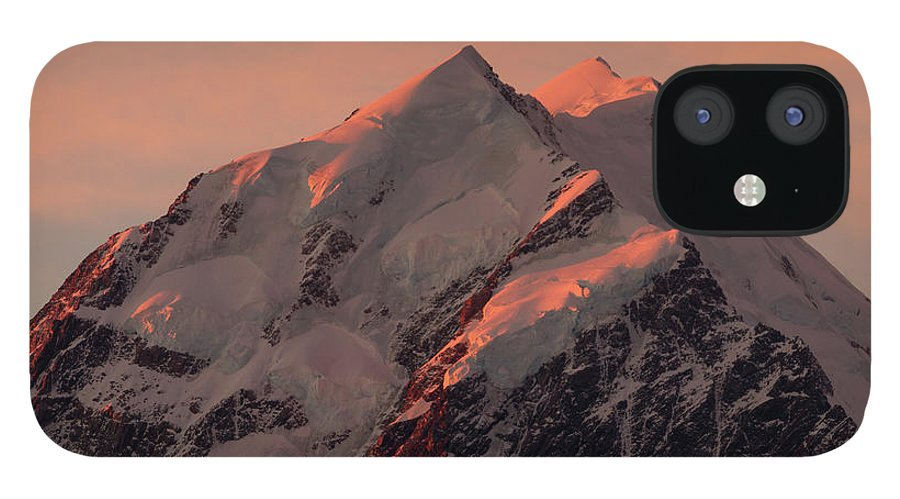 Scenics IPhone 12 Case featuring the photograph Sunset On Mt Cook by Philip Norton