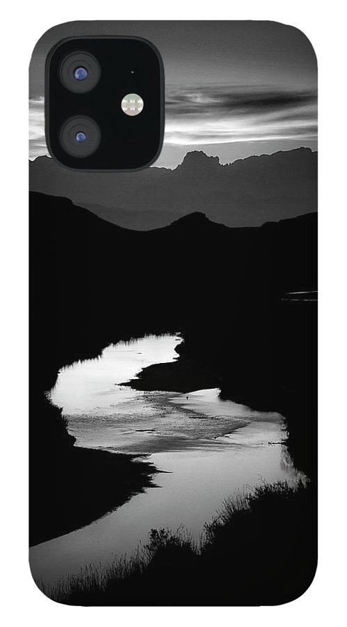 Scenics IPhone 12 Case featuring the photograph Sunset Over The Rio Grande by Kim Kozlowski Photography, Llc