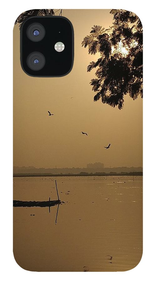 Sunset IPhone 12 Case featuring the photograph Sunset by Priya Hazra