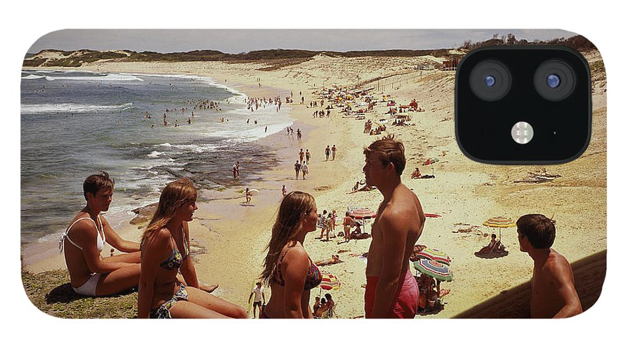 Equipment IPhone 12 Case featuring the photograph Surfers & Girls In Bikinis, Soldiers by Robin Smith