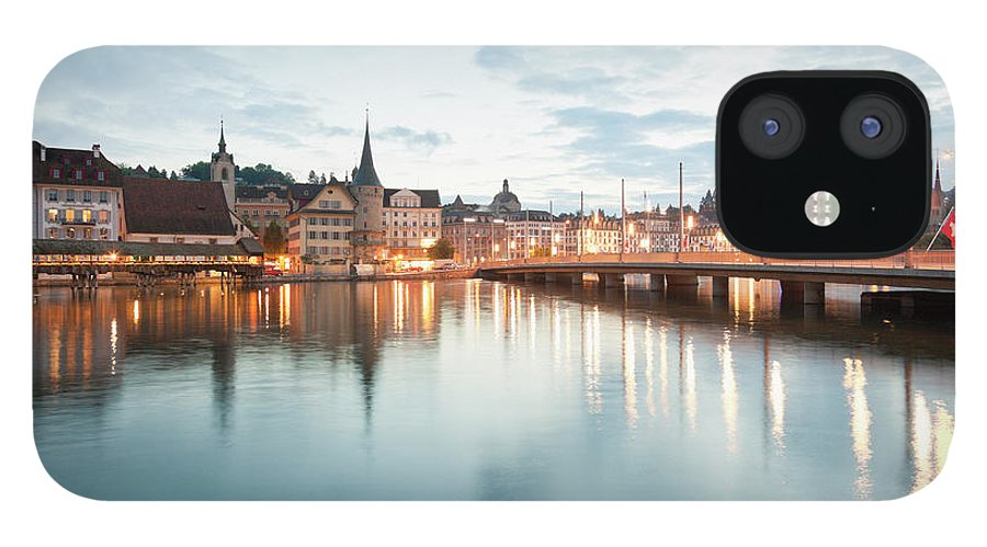 Dawn IPhone 12 Case featuring the photograph Switzerland, Lucerne, View Of by Westend61