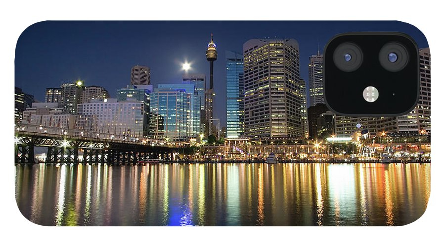 Scenics IPhone 12 Case featuring the photograph Sydney Darling Harbour Twilight by Matejay