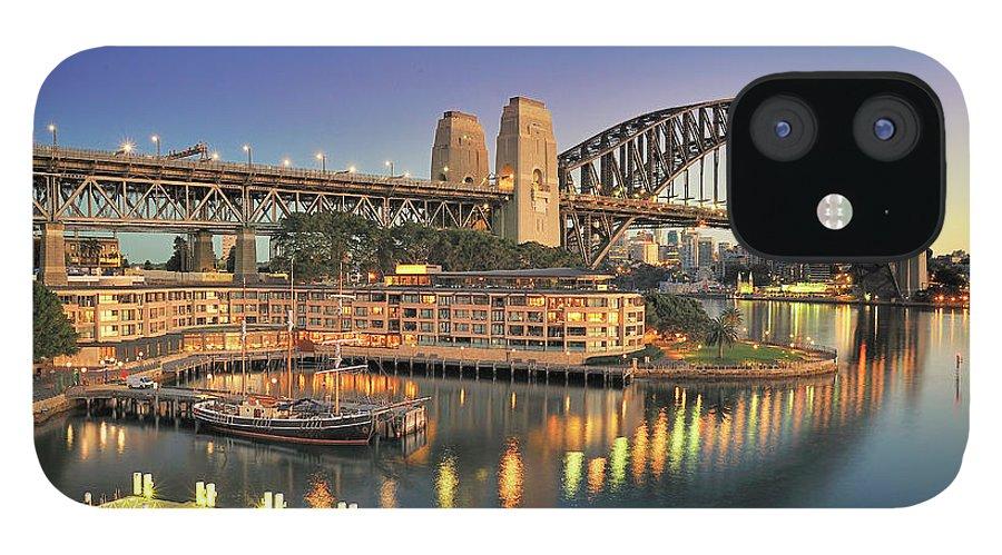 Built Structure IPhone 12 Case featuring the photograph Sydney Harbour Bridge by Warwick Kent