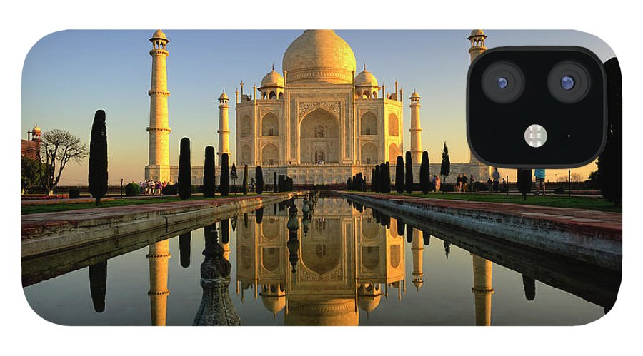 Clear Sky IPhone 12 Case featuring the photograph Taj Mahal by Tayseer Al-hamad