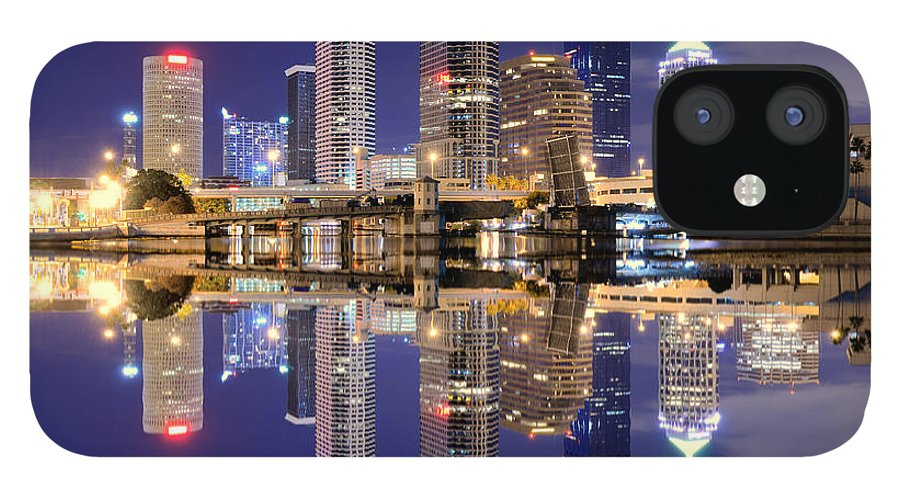 Downtown District IPhone 12 Case featuring the photograph Tampa Bay Skyline by Sean Pavone