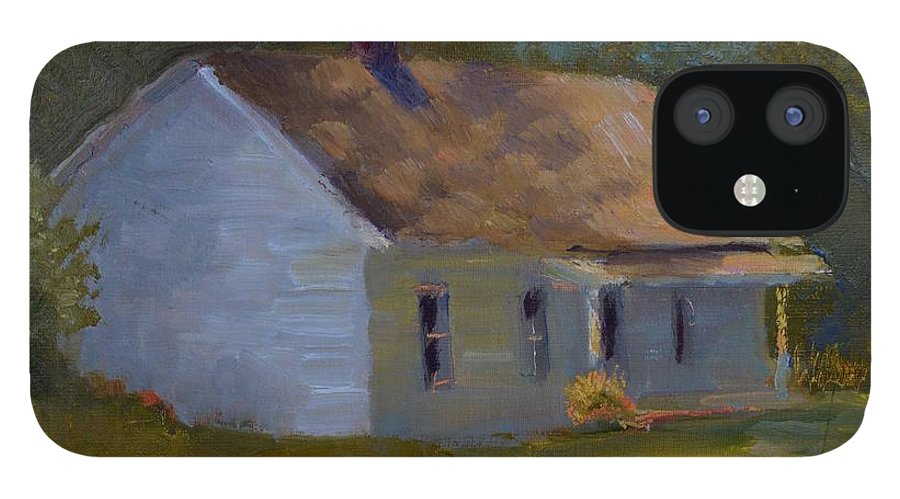 Kentucky IPhone 12 Case featuring the painting Tay's Cottage by Roger Snell