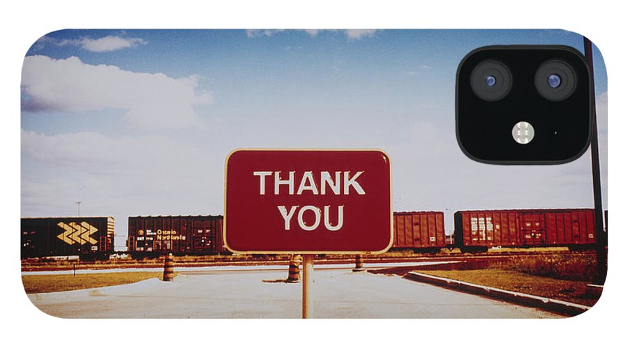 Thank You iPhone 12 Case featuring the photograph Thank You Sign by Silvia Otte