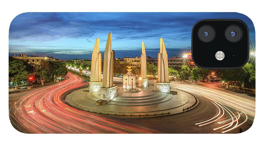 Built Structure IPhone 12 Case featuring the photograph The Democracy Monument by Thanapol Marattana