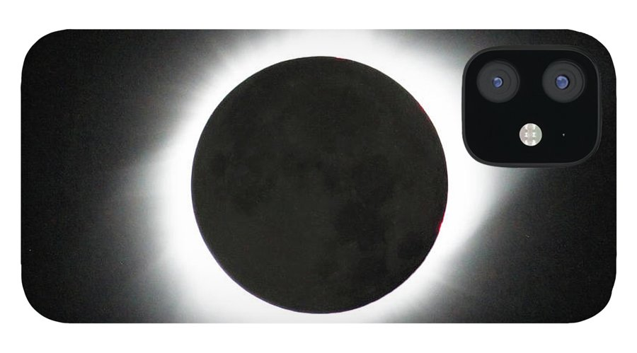 Solar Eclipse IPhone 12 Case featuring the photograph The great American Eclipse by Nunzio Mannino
