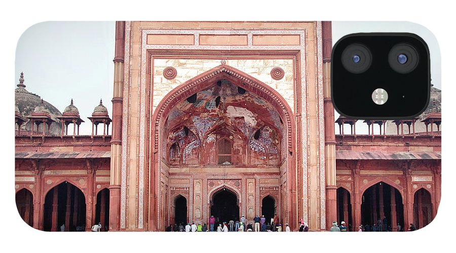 Arch iPhone 12 Case featuring the photograph The Jama Masjid Mosque _3940 by Photograph By Howard Koons