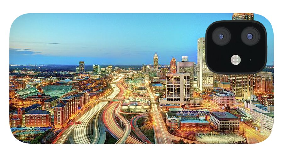 Atlanta IPhone 12 Case featuring the photograph The Lifeblood Of Atlanta by Photography By Steve Kelley Aka Mudpig