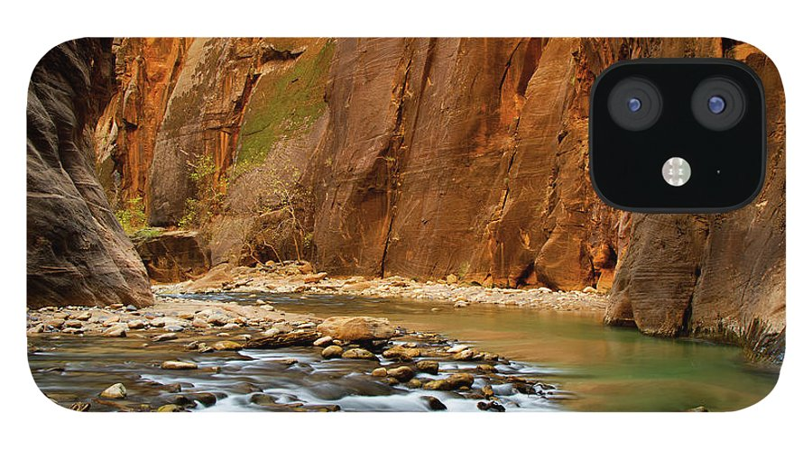 Zion Narrows IPhone 12 Case featuring the photograph The Narrows by Beklaus
