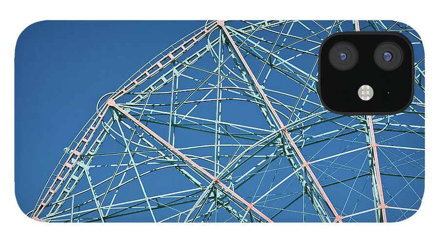 Built Structure IPhone 12 Case featuring the photograph The Top Of A Ferris Wheel, Low Angle by Frederick Bass