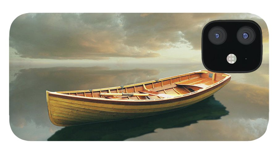 Canoe iPhone 12 Case featuring the painting Time Out 13 by Carlos Casamayor