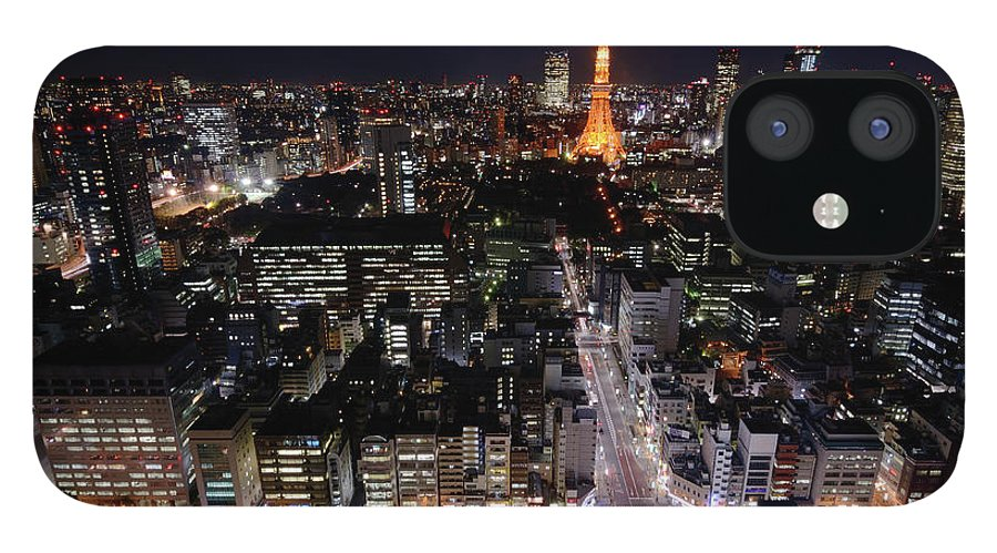 Tokyo Tower IPhone 12 Case featuring the photograph Tokyo At Night by Sugimoto Yasuaki