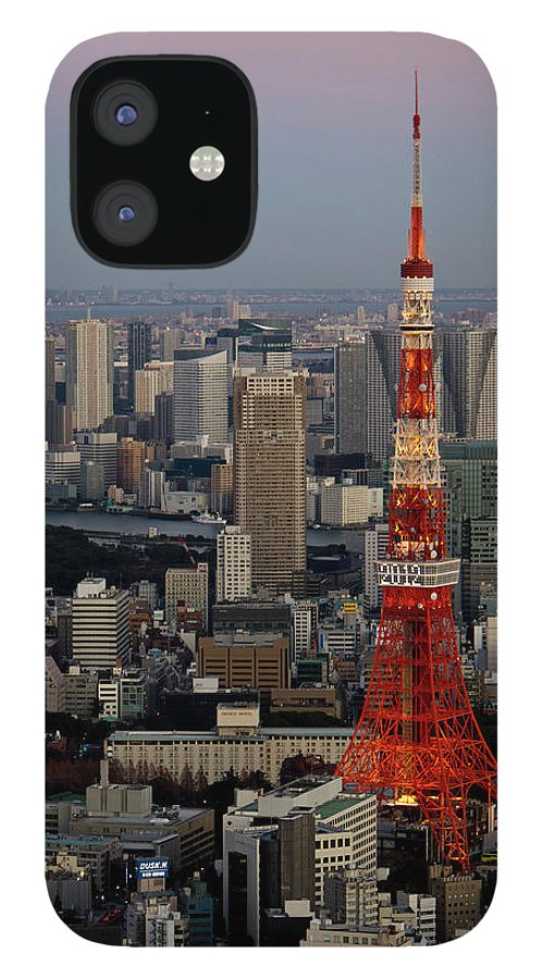 Tokyo Tower IPhone 12 Case featuring the photograph Tokyo Tower At Dusk by Lluís Vinagre - World Photography
