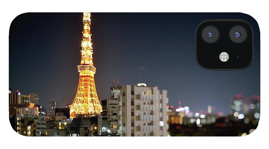Tokyo Tower IPhone 12 Case featuring the photograph Tokyo Tower At Night by Vladimir Zakharov