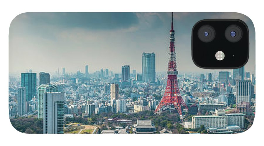 Tokyo Tower IPhone 12 Case featuring the photograph Tokyo Tower Futuristic Skyscraper by Fotovoyager