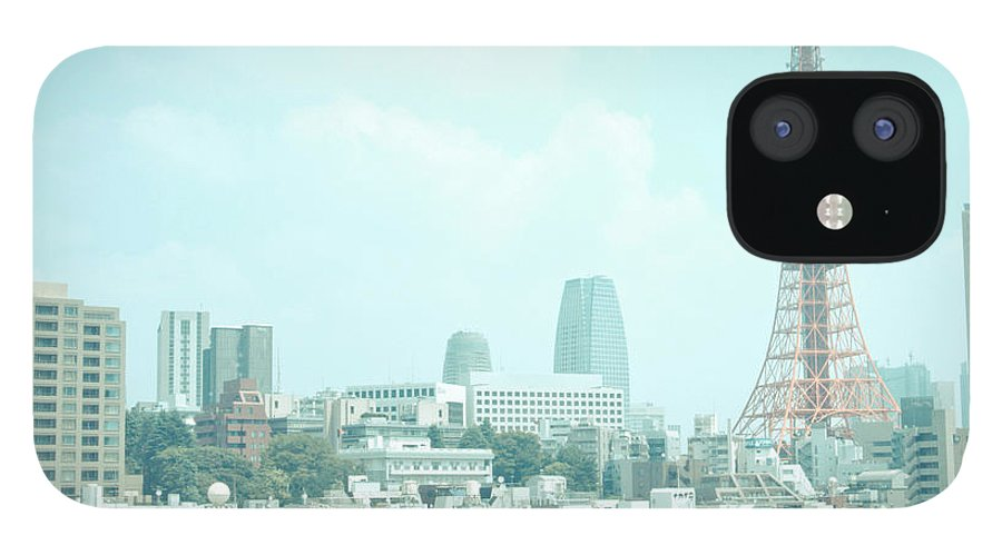 Tokyo Tower IPhone 12 Case featuring the photograph Tokyo Tower by Shigeto Sugita