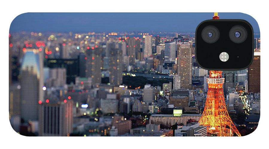 Tokyo Tower IPhone 12 Case featuring the photograph Tokyo Tower by Vladimir Zakharov