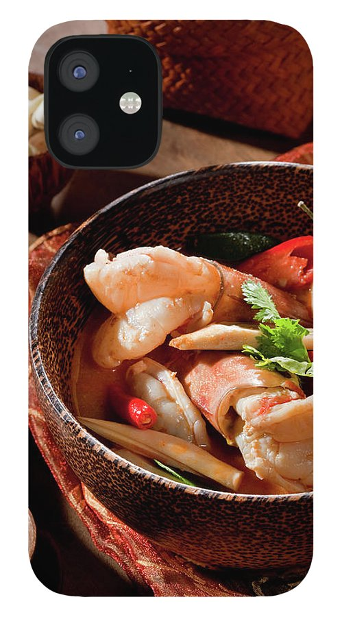 Asian And Indian Ethnicities IPhone 12 Case featuring the photograph Tom Yum Kung by Shutterworx
