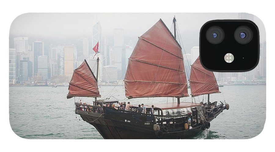 Outdoors IPhone 12 Case featuring the photograph Tourist Junk On Cruise by Romana Chapman