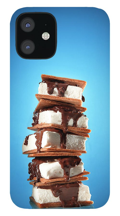 Temptation iPhone 12 Case featuring the photograph Tower Of Smores Treats by Annabelle Breakey