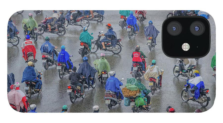Ho Chi Minh City IPhone 12 Case featuring the photograph Traffic In Ho Chi Minh City by Rwp Uk