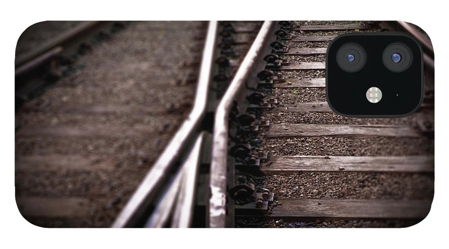 Freight Transportation IPhone 12 Case featuring the photograph Train Line Crossing by Mikulas1
