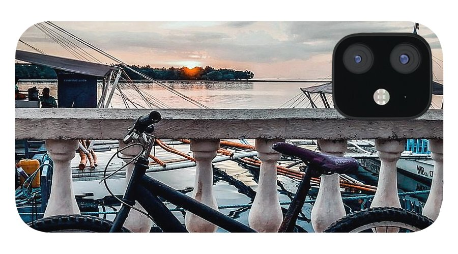 Bike IPhone 12 Case featuring the photograph Traveller's point by Dynz Abejero