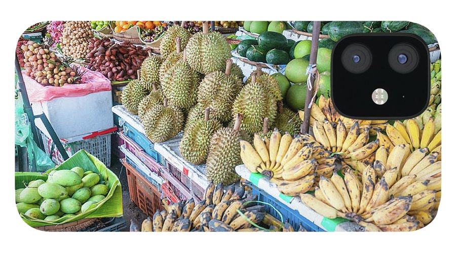 Mango Fruit IPhone 12 Case featuring the photograph Tropical Fruit At A Street Market In by Tbradford
