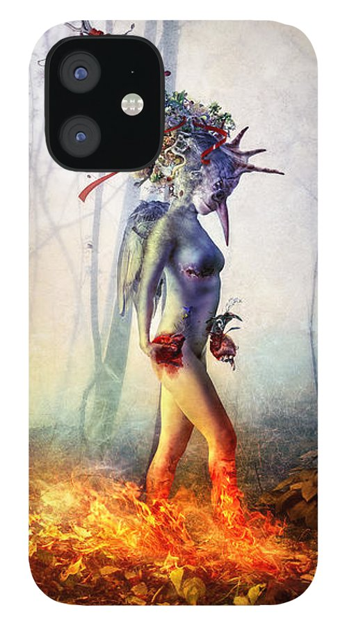 Surreal IPhone 12 Case featuring the digital art Trust in me by Mario Sanchez Nevado