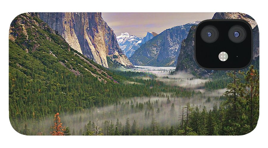 Scenics IPhone 12 Case featuring the photograph Tunnel View. Yosemite. California by Sapna Reddy Photography