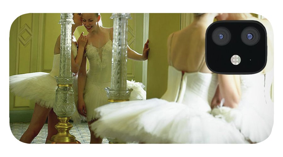 Ballet Dancer iPhone 12 Case featuring the photograph Two Teenage Ballet Dancers 13-15 In by Hans Neleman