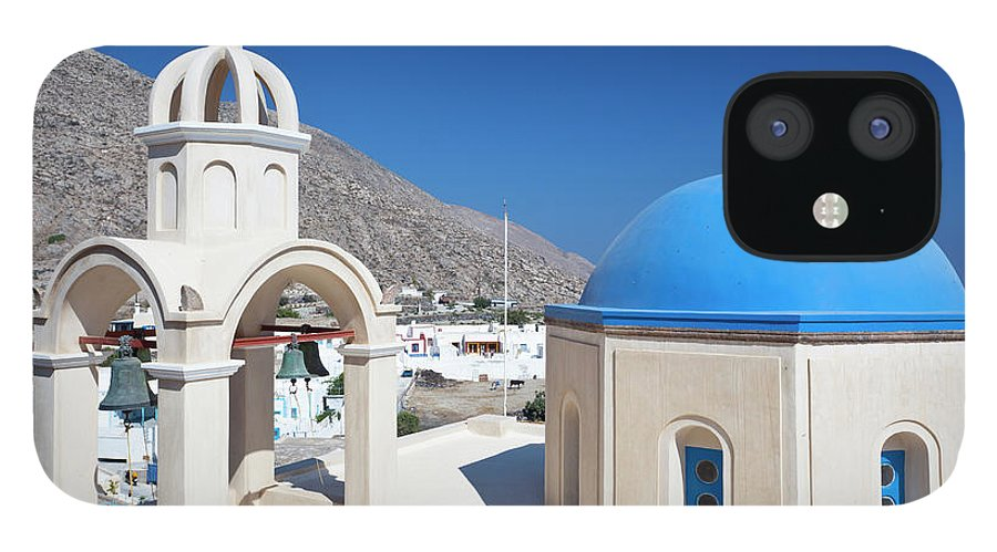 Greek Culture IPhone 12 Case featuring the photograph Typical Greek Church by Michaelutech