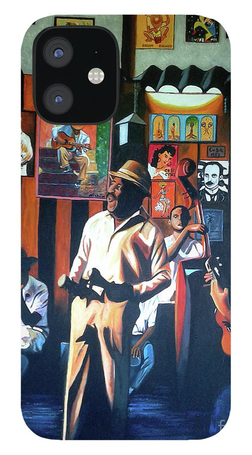 Bar IPhone 12 Case featuring the painting Uncle Bar by Jose Manuel Abraham