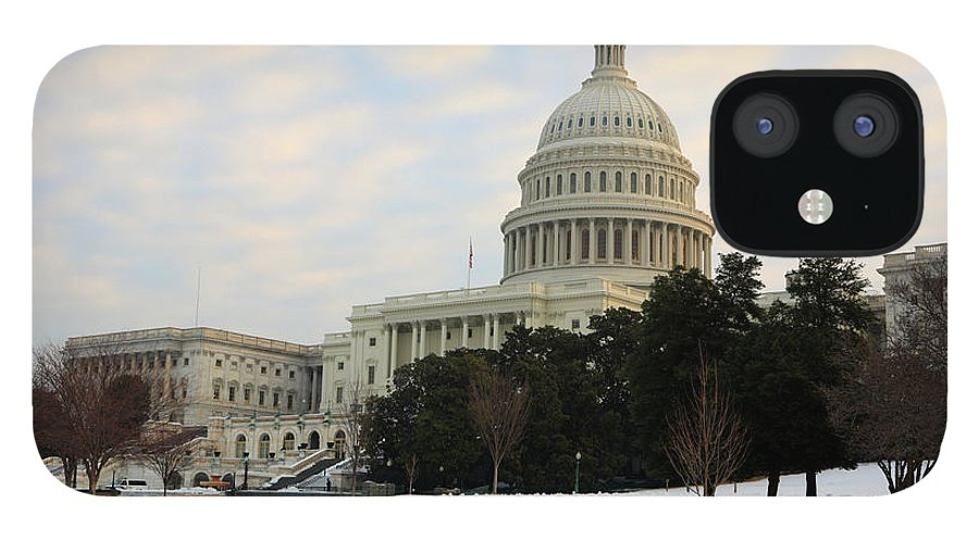 Dawn IPhone 12 Case featuring the photograph Us Capital by Tongshan