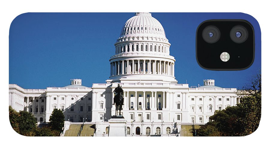 Statue IPhone 12 Case featuring the photograph U.s. Capitol Building In Washington by Medioimages/photodisc