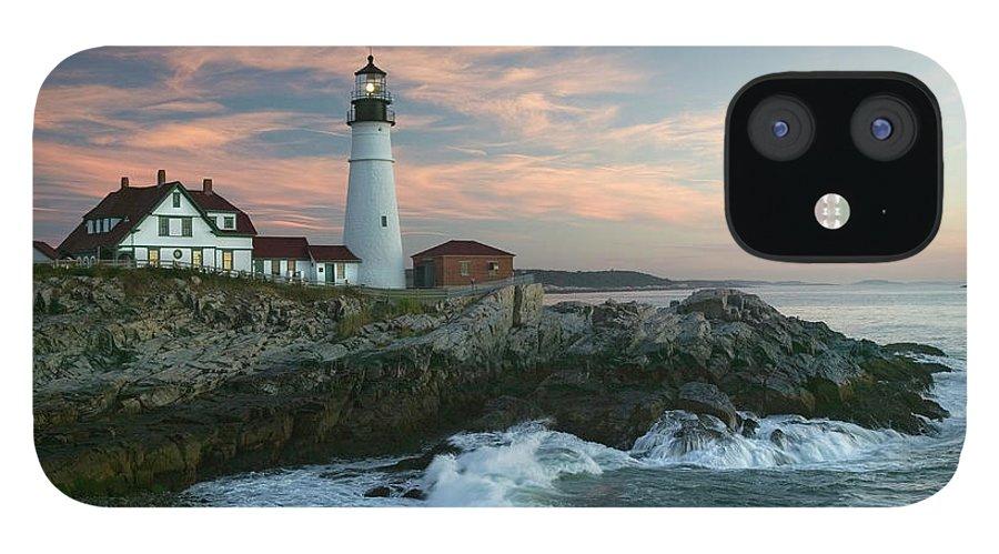 Scenics iPhone 12 Case featuring the photograph Usa, Maine, Cape Elizabeth, Portland by Visionsofamerica/joe Sohm