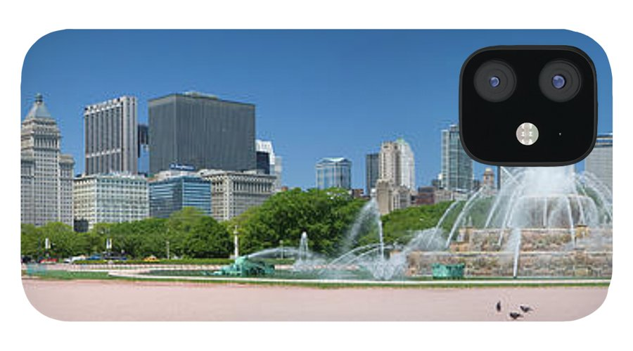Panoramic IPhone 12 Case featuring the photograph Usa, Michigan, Chicago, Buckingham by Travelpix Ltd