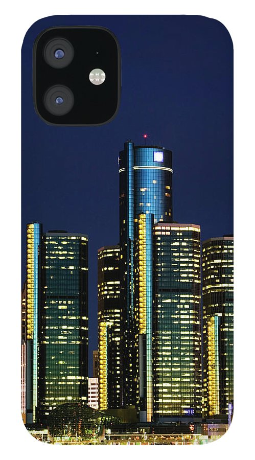 Detroit IPhone 12 Case featuring the photograph Usa, Michigan, Detroit, Skyline & by Walter Bibikow