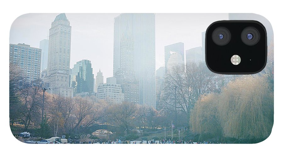 Central Park IPhone 12 Case featuring the photograph Usa, New York, Central Park, People On by Devon Strong